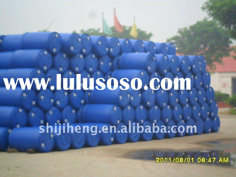 200l blue blow moulding plastic drum with double layer double ring