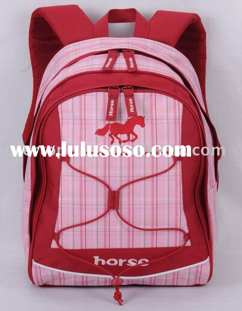 2011 New design child back to school bag set--horse series