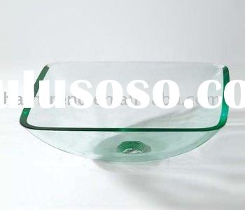 2011 fashion modern superior elegant sanitary ware bathroom glass basin,wash basin,glass sink