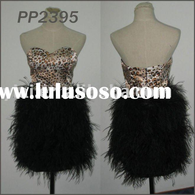 2011 free shipping high quality hot selling short feather party dress 2011 PP2395