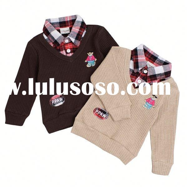 2011new design fashion long sleeve T-shirt korea style children clothing kids clothing wholesale chi