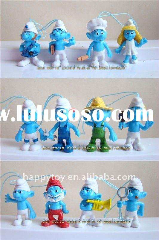 2012 6 inch smurf plastic PVC toy for kids