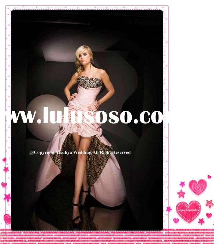 2012 Hot Sell Short-Long Leopard Printed Prom Dress