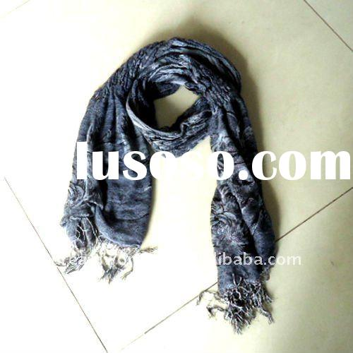 2012 Latest fashion Lady cotton scarf with lace and gilding kerchief chuddar bandelet muffler shawl