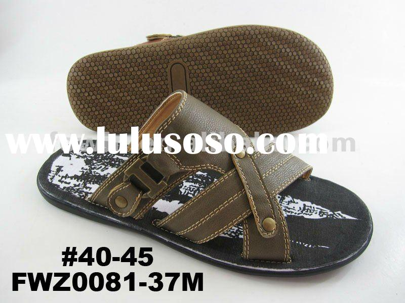 2012 New PU slippers for men