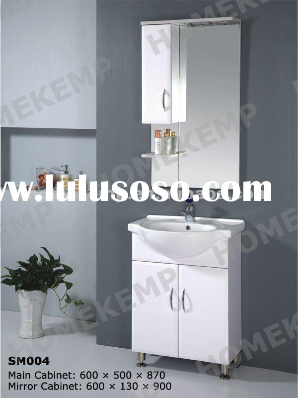 2012 White Glossy Painting Bathroom Cabinet