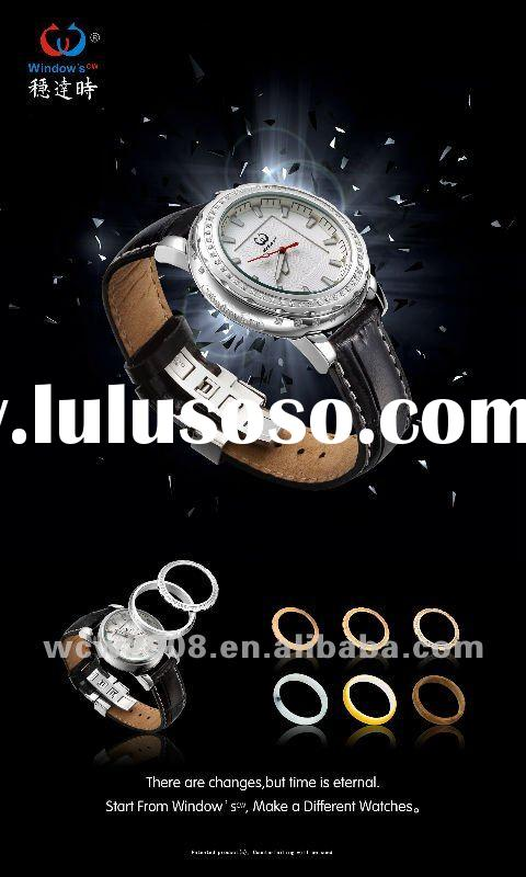 2012 hot products new DIY patent watches men with genuine leather