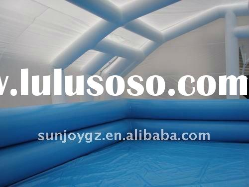 2012 hot sale inflatable swimming pool with tent cover