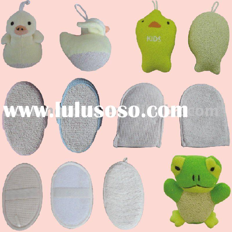 2012 hottest animal bath toy cotton soft sponge for baby