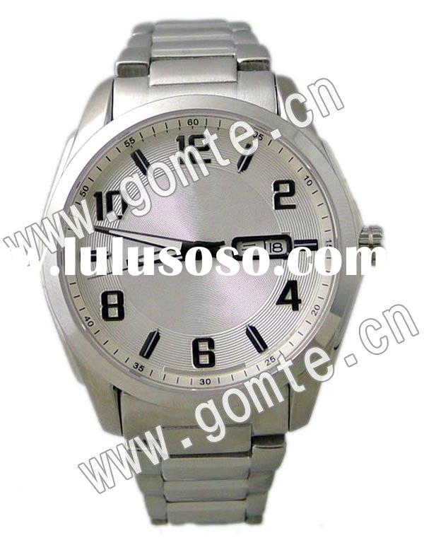 2012 promotional stainless steel japan movement Watches men's