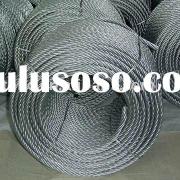304,316 stainless steel 6x19 wire rope