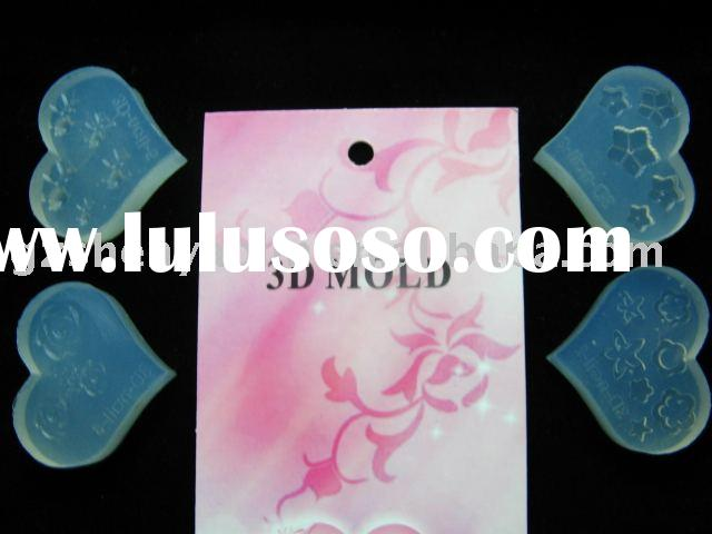3D mould Mold Heart for Acrylic Nail Art design