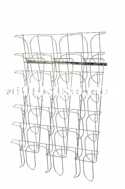 3-Row 7-Tier Wall Mount Wire Magazine Brochure Holder A4