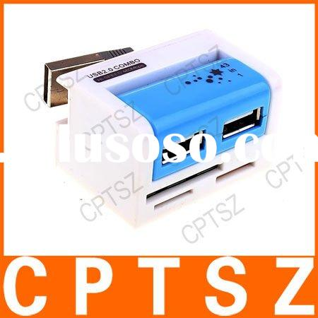 43-in-1 USB 2.0 Memory Card Reader with USB 2-Port HUB