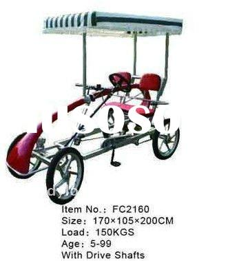 4 wheel adult bike,4 person bike,pedal 4 wheel bike,4 person pedal go kart