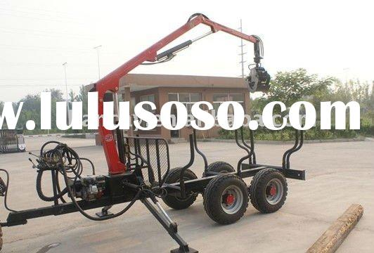 5T Log loader Trailer with hydraulic Crane for tractor or ATV