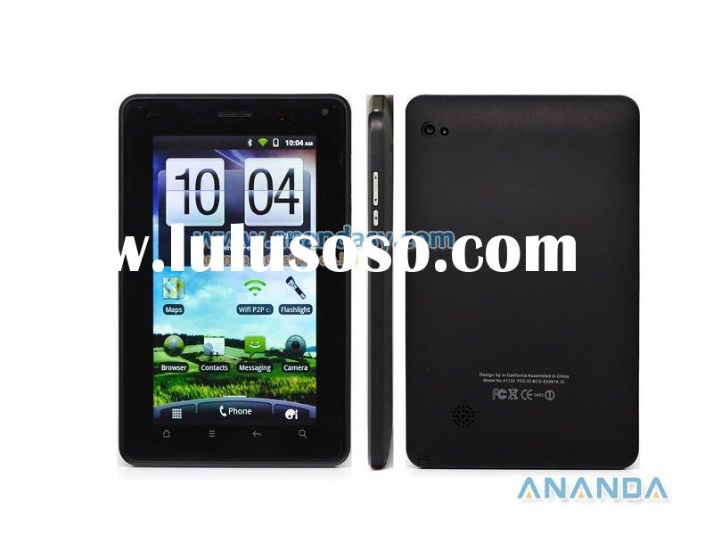 "7"" Smartphone Tablet PC Android 2.3.4 MTK6573 Dual SIM 3G GSM GPS Bluetooth TV Dual Camera capa"