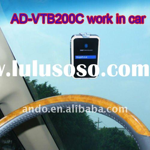 AD-VTB200C bluetooth/hands-free car kit solar charging LCM screen show english name