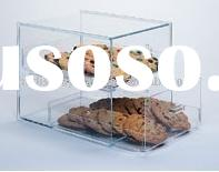 Acrylic display case with 2 drawer(show case,cake or food display,counter display)
