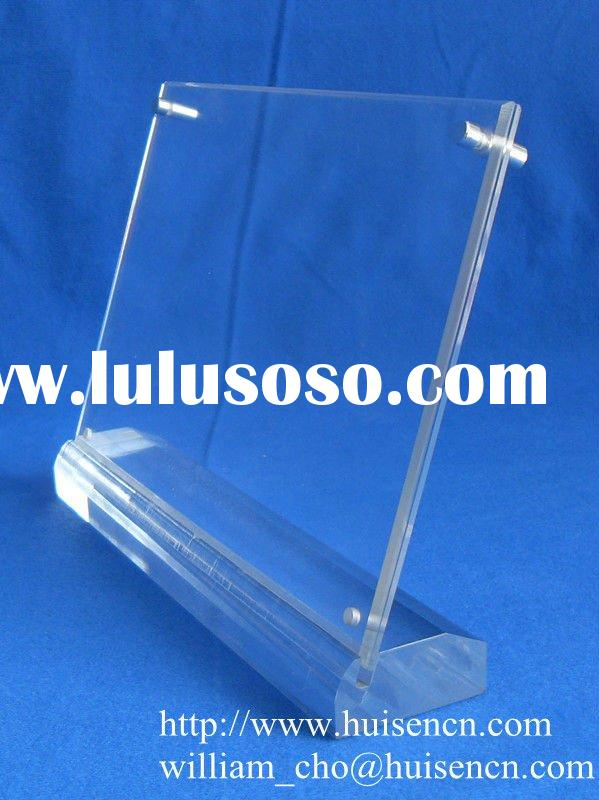 Acrylic poster holder for counter display