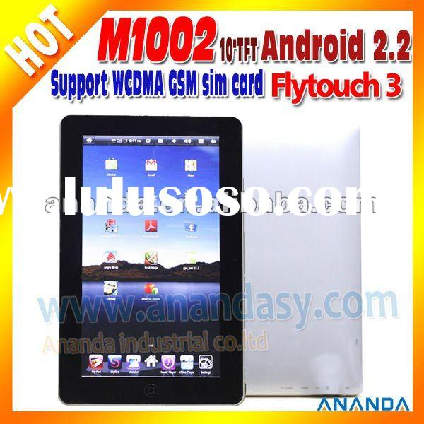 Android 10 inch GSM Phone tablet PC M1002 with GPS WiFi 3G Sim Card slot