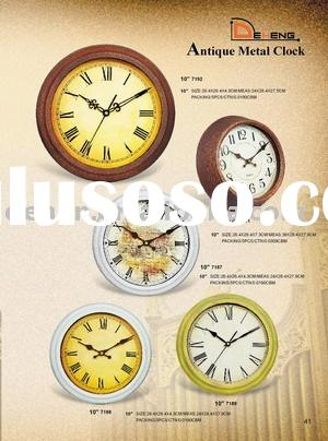 Antique quartz clock// clock,metal wall clock ,promotion wall clock, Classical clock, Antique clock,