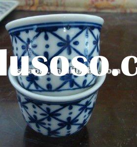 Antiques Blue and White Porcelain Cups and saucers,Good Ceramic tableware cups