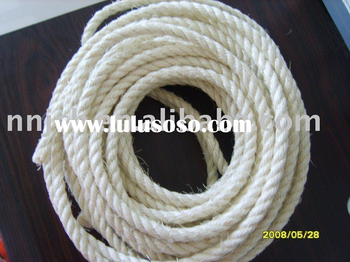 Bleached sisal rope/palm manila rope