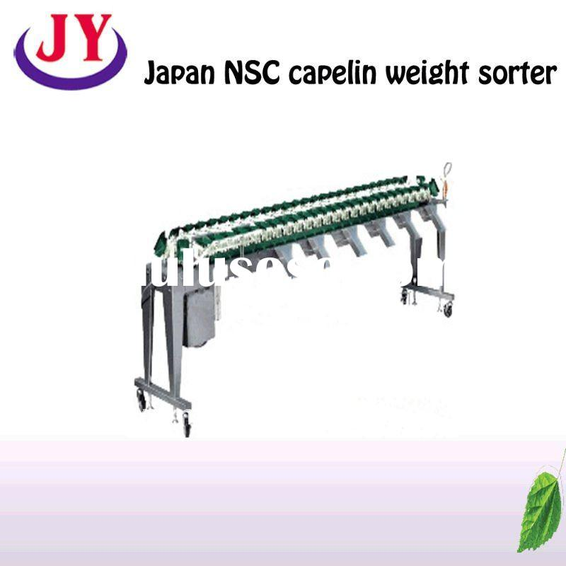 China Japan NSC capelin weight sorter,fish weight choosing,Japan leaf fish weight sorting machine