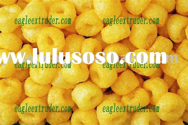 China golden ring puff corn snack food making line machine equipment processing line/production plan
