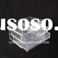 Clear acrylic display drawer;Plastic display case cases;plexiglass showing box boxes;