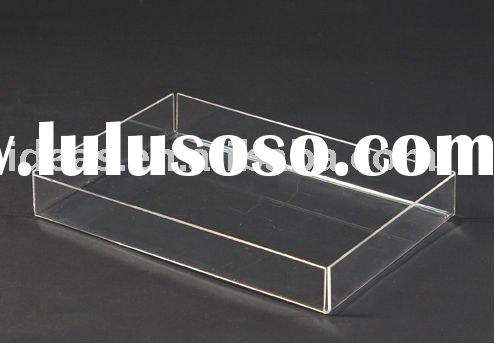 Clear acrylic serving tray