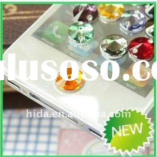 Crystal Diamond Home Button Sticker for iPhone 4s/iPhone 4 3GS, for ipad,itouch case