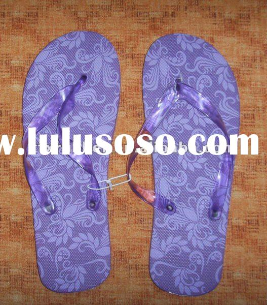 EVA flip flop with fabric,slippers with strap