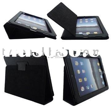 For iPad Leather Case Cover Folder (Two way use as stand)