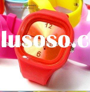 Free Shipping 2011 The Hottest Jelly Silicone Watch Promotional Gifts