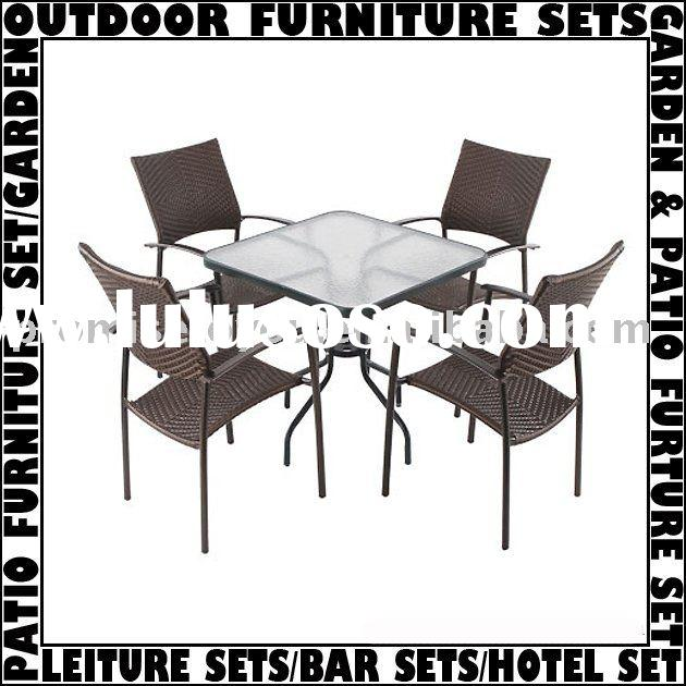 Garden&patio furniture sets with 1 table and 4 chair