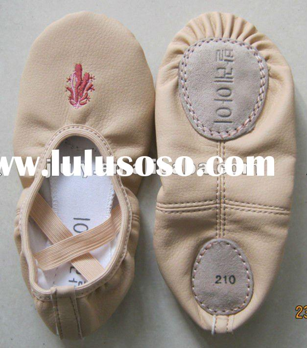Girl Soft PU Leather Ballet Dance Shoes