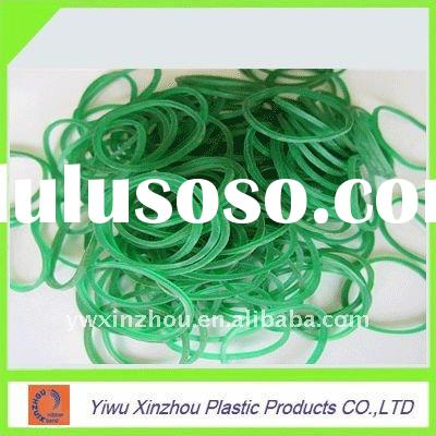 Green elastic rubber band