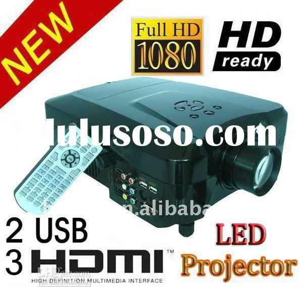 HD 1080P with 3 HDMI and 2 USB VGA LED Home Theater Projector LED lamp lasts 50000 hours