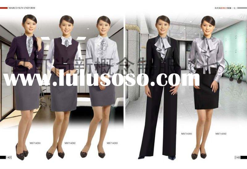 HOT selled handmade 2012 modern ladies office uniform