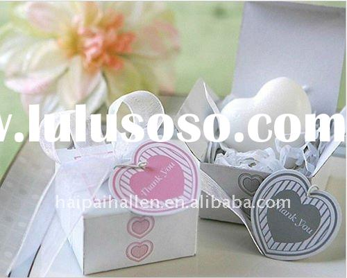 Heart shaped Mini Soap with gift box for wedding favors