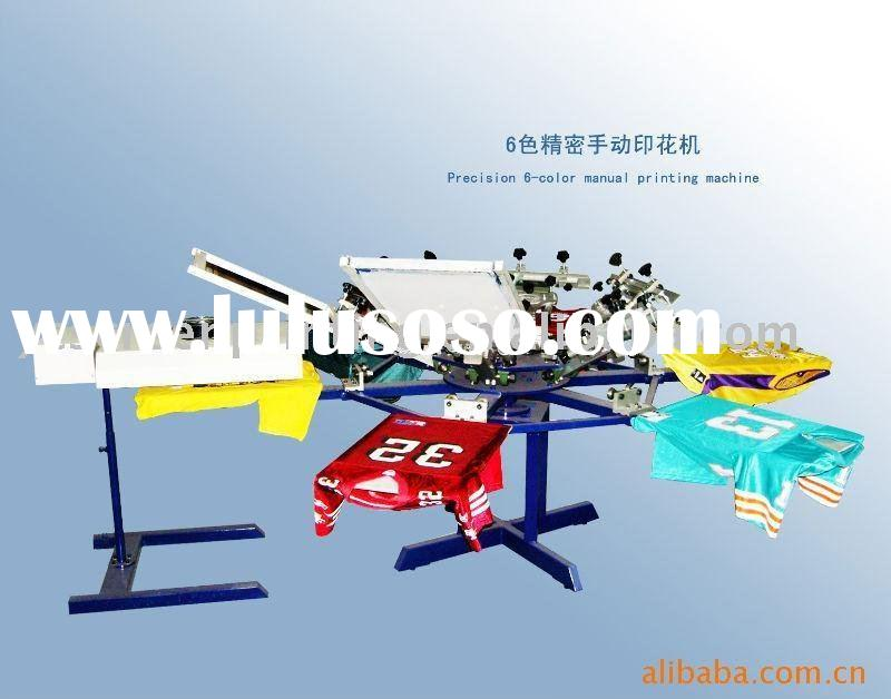 Higt precision t shirt screen printer machine,Manual 6 color textile screen printing machine