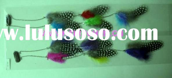 Hot sale new style feather hair extensions with clips wholesale ( HC-1018),Paypal