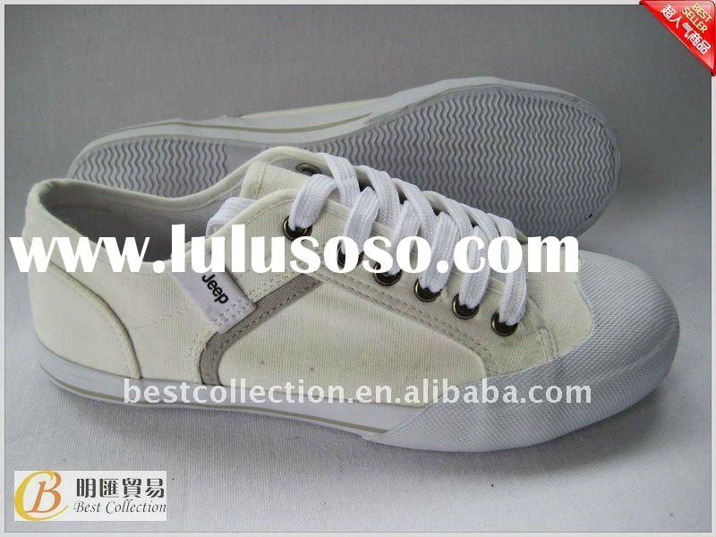 Hot selling men and women white canvas shoe CV006