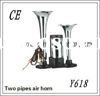 Hurricane Horn,Compact Dual Trumpet Air Horn,Auto HORN (Y-618) for any car,Auto Parts(Y-618) for any