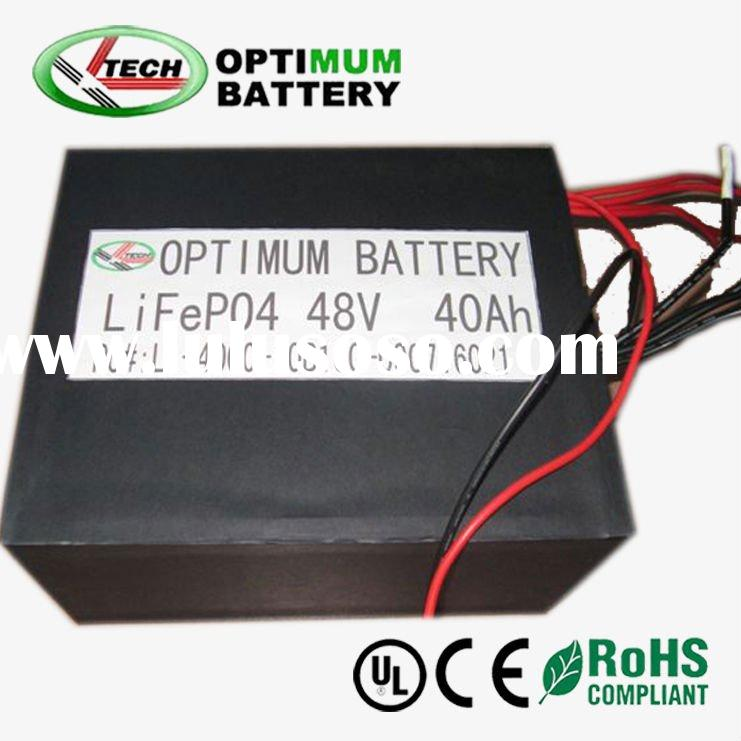 Lifepo4 48V 40Ah scooter battery lithium with charger