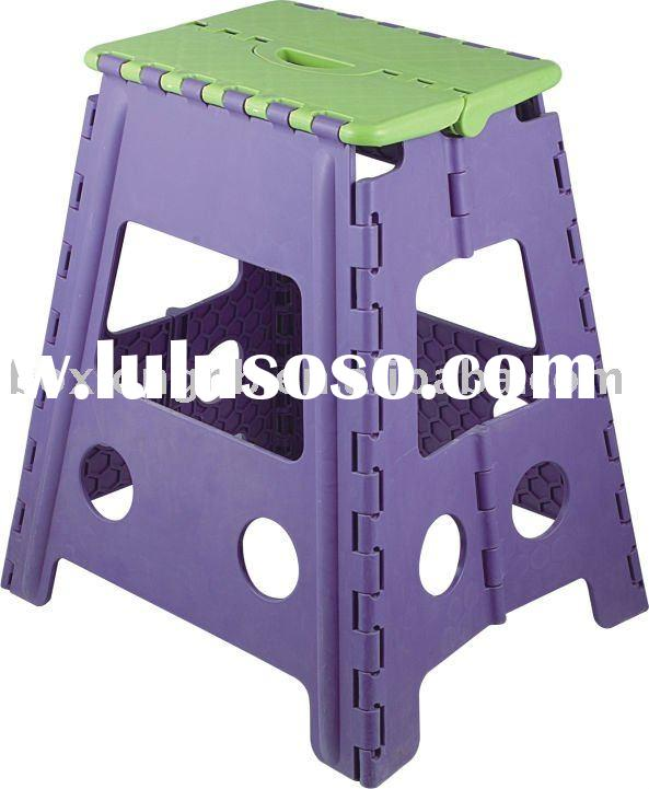 Lightweight stool,mini folding child step stool( PP plastic blow molding folding stool)---FS006