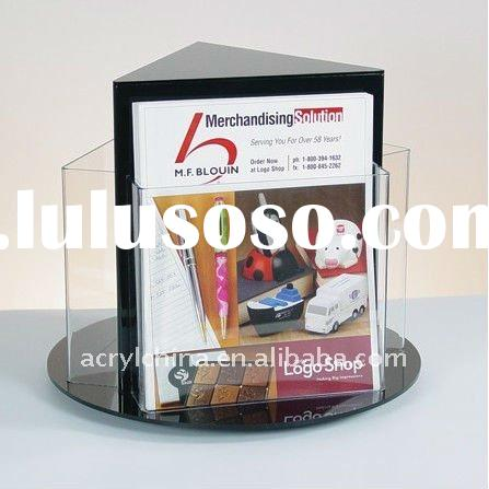 Magazine rack / Countertop Rotating Literature Rack / flyer display holder