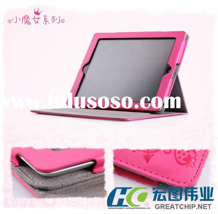 Magnetic Stand Smart Leather Case Cover for iPad 2 Cute Graffiti fairy Faerie Gift